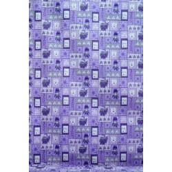 Bavlna s levandulí do fialova