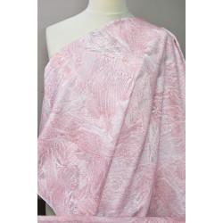 Jeans s růžovým vzorem