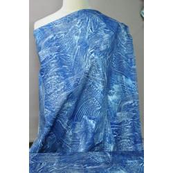 Jeans s modrým vzorem