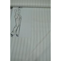 Bílá oblekovka s tkaným...